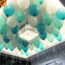 Buy Balloons!20PCS 10inch Blue&White&Tiffany Color Balloons Latex Balloons Kid Toys Home/ Birthday/Wedding Party Decoration for $2.21 in AliExpress store