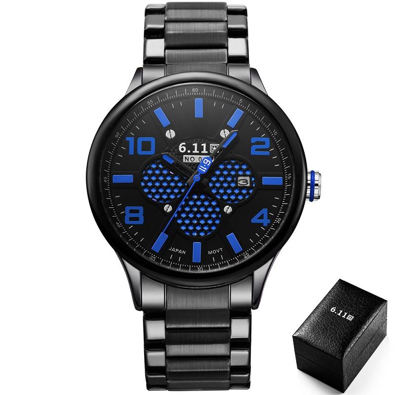 TIMI 2017 Men Fashion Solar-powered watch Full Steel Clock Army Military Outdoor Quartz Wrist Watch Casual Sports watches NO.008