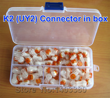 100pcs/box,UY2(K2)Wire Connector,Best UY Lock Joint Connector For Telephone Cable telephone lines, network lines,free shipping(China)