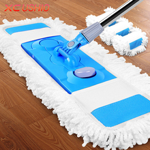Large Detachable Folding Flat Mop 360 Degrees Telescopic Rotating Mop Household Floor Kitchen Bathroom Cleaning Tools