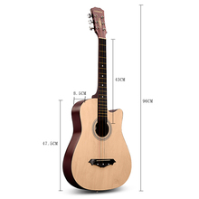 free shipping Andrew 96cm 38inch wood guitar +12pcs guitar parts Wood, black, purple, red, white, blue,pink, sun