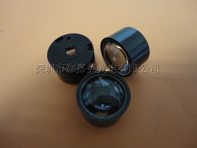 CREE lens Diameter 21.5mm PMMA Convex lens (with holder ) 30 degrees XPG LED lens/XPE Lens