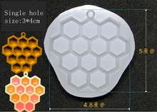 1 Pcs New honeycomb Liquid silicone mold DIY resin jewelry pendant necklace pendant lanugo mold resin molds for jewelry