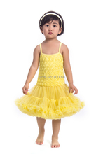 2015 fashion Newest design dress rosette dress party birthday dress petti dress pettidress  for baby girls KP-RDS018