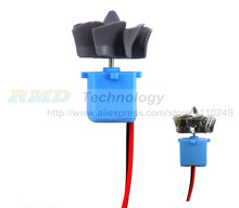 15V 0.2A DC generator small generator hand generator wind water generator with fan and LED Free shipping