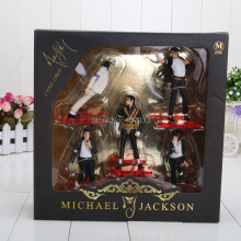 Michael Jackson PVC Action Figure Collection Model Toy 12cm New in Retail Box 5pcs/set(China)