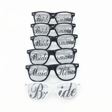 6 Pairs Novelty Glasses for Memorable Photo Booth Bridal Bachelorette Wedding Party Favors Bride and Bridesmaid Sunglasses