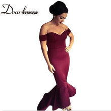 Buy Dear lover Maroon /Navy Off-shoulder Elegant Mermaid Dress Summer Autumn 2017 Women Formal Dresses Special occassion LC60171 for $20.42 in AliExpress store