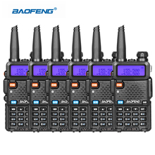 6pcs/lot Portable Baofeng UV5R Two Way Radio Portable Ham Radio UHF VHF 136-174/400-520 Walkie Talkie Police Equipment