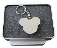 Metal usb mickey head flash drive 8GB 16GB 32GB 64GB pendrive cartoon memory sticks gifts tin box Packing free shipping