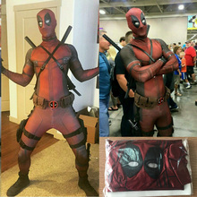Cosplay Men Adult Superhero Cosplay Deadpool Costume Halloween Costume Onesie Deadpool Cosplay Costume for Kids(China)