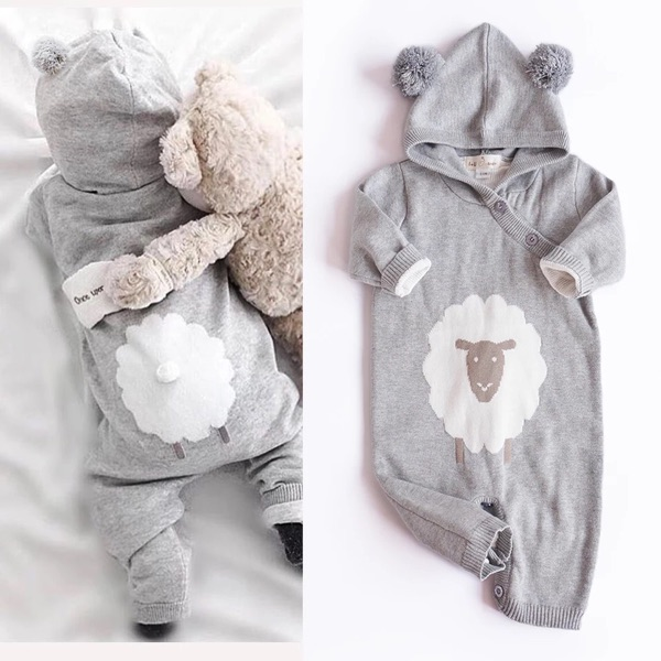 2017 Cotton Soft Newborn Baby Warm Romper For Infant Girls Boys winter clothes Rompers cute sheep Style Bunny Jumpsuits Winter<br><br>Aliexpress