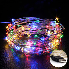 USB LED String Copper wire 10M 100LEDs Wedding Party Holiday Christmas Decoration LED Fairy String Light(China)
