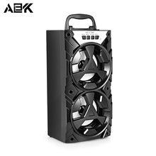 ALBK 278BT Wireless Bluetooth Speaker Portable Stereo LoudSpeaker with LED Lighting Effects Support TF Crad USB FM for Phone PC