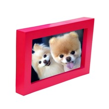 Wedding Photo Frame Fashion Red DIY Wall Cute Paper Photo Wooden Personality Creative Frame For Pictures(China)
