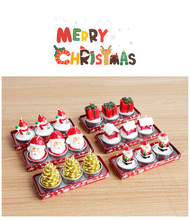 3pcs/lot Merry Christmas Xmas Dinner Cute Santa Claus Snowman Cake Candle Christmas Decoration For Home Birthday Party Holiday