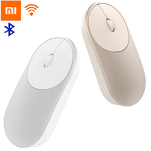Original Xiaomi Mouse Aluminium Alloy ABS Material Support 2.4Ghz Wifi Bluetooth 4.0 For Windows 8 Win10 Laptop Computer(China)
