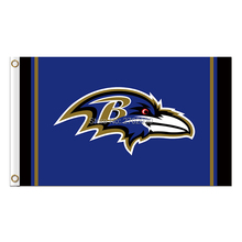 Blue B Baltimore Ravens Logo Flag Football Team Super Bowl Champions 90x150 Cm Polyester Printed Banner(China)