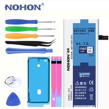 "Buy New NOHON Battery Apple iPhone 7 7G iPhone7 4.7"" Real Capacity 1960mAh Replacement Cell phone Bateria Free Repair Tools for $23.99 in AliExpress store"