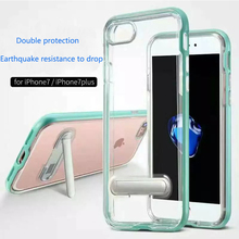 POMER Mobile Phone Case With Stand Holder Double Protector TPU Imported Material Back Protective Cover For Iphone 7 7Plus