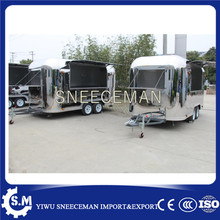 Mobile Hot Dog Vending Trailer Cart  Professional Hot Dog frying Food Trailer Truck Manufactures