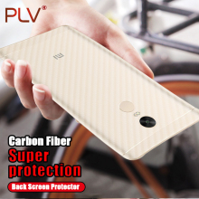 PLV Carbon Fiber 3D Soft Film For Xiaomi Redmi 4 4 Pro 4A 4X 5A Film Clear Scratch-protection Back Film For Redmi Note 4 4X 5A(China)
