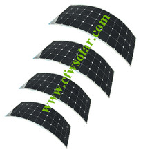 Solar home system 520W with four pcs of module 130W of flexible solar panel good for cars, ship, boat's 12V battery power supply