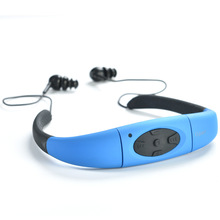 8GB (4GB) Waterproof Sports MP3 Player Neckband Stereo Headset Music Player 4/8GB IPX8 Water Proof Swimmimg MP3 with FM Radio(China)