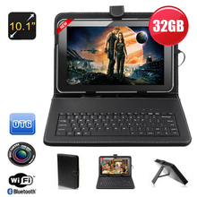 "FreeShipping 10.1 ""inch Boda Google Android 4.4 Quad Core Camera Wifi 32GB Tablet PC keyboard as gift Aliexpress 11-11"