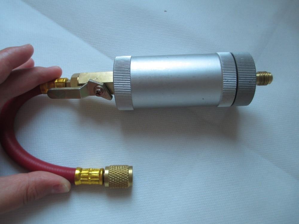 R134A,R12,R22 Car Air Conditioning Refrigerant Inline Oil Dye Injector 2oz 1/4<br><br>Aliexpress