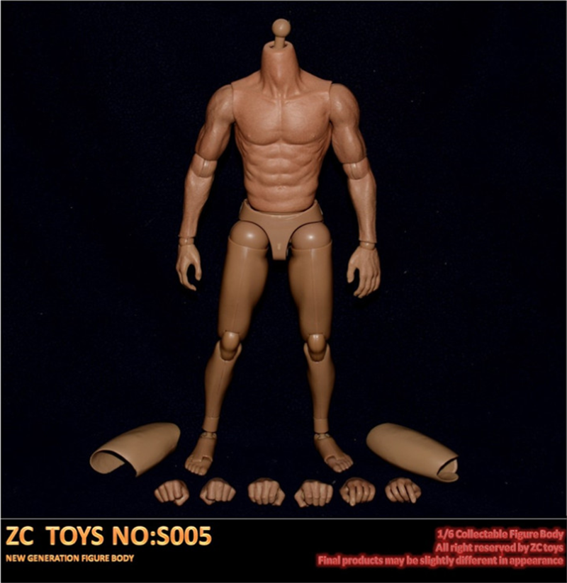 ZC TOYS 1//6 Scale S005 Narrow Shoulders Male Body Model Asian Man Action Figure