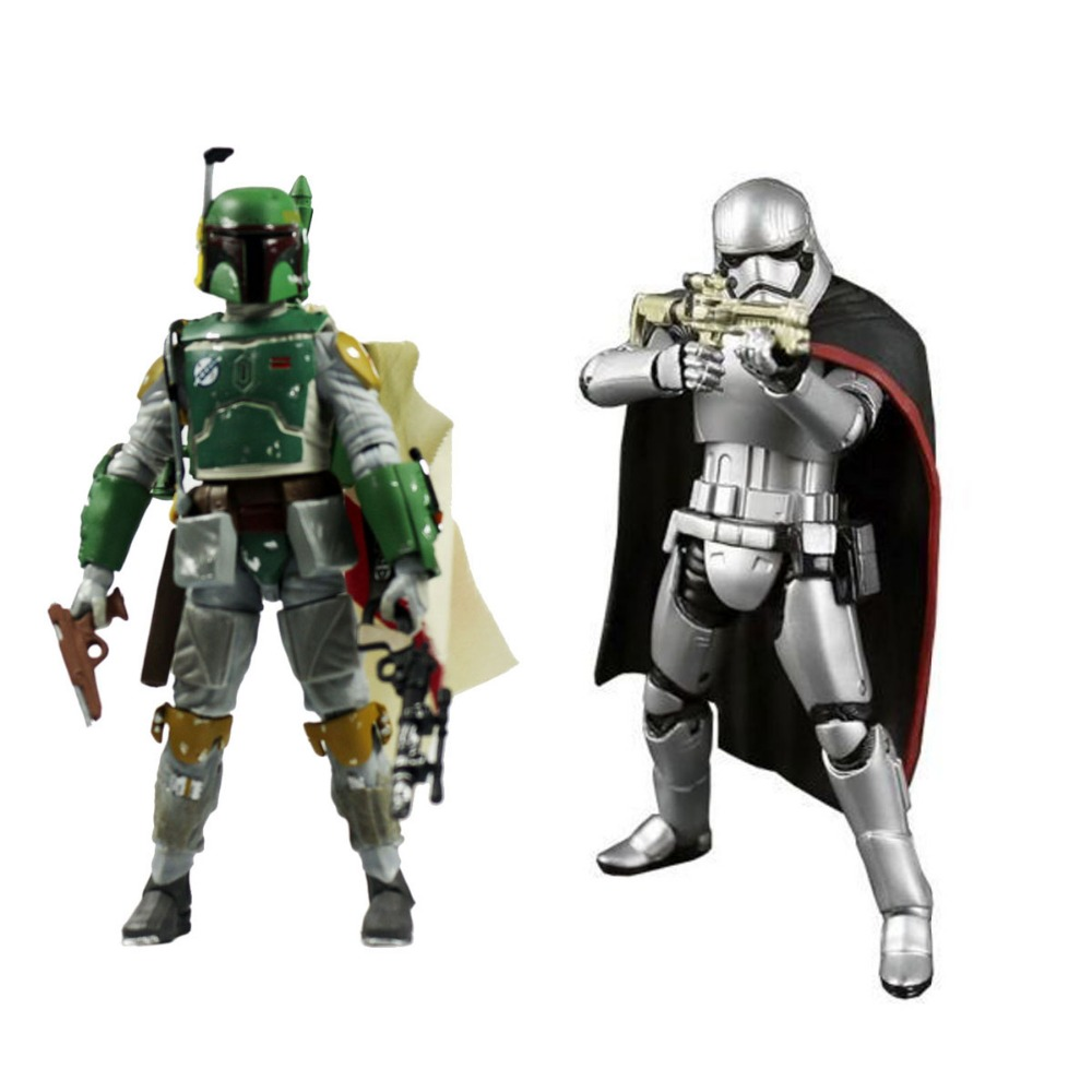2pcs Set Movie The Black Series Stormtrooper Captain Phasma + Boba Fett #06 6 Figures Free Shipping<br>