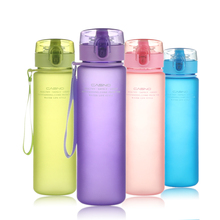 PURANKA My Xmas Gift Bottle 400ML 560ML Tour Outdoor Sport School Leak Proof Seal Water bottle Plastic Tritan Drinkware BPA Free(China)