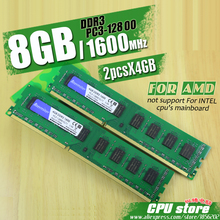 New 8GB (2pcsX4GB) DDR3 PC3-12800 1600MHz For Desktop PC DIMM Memory RAM 240 pins For AMD System High Compatible