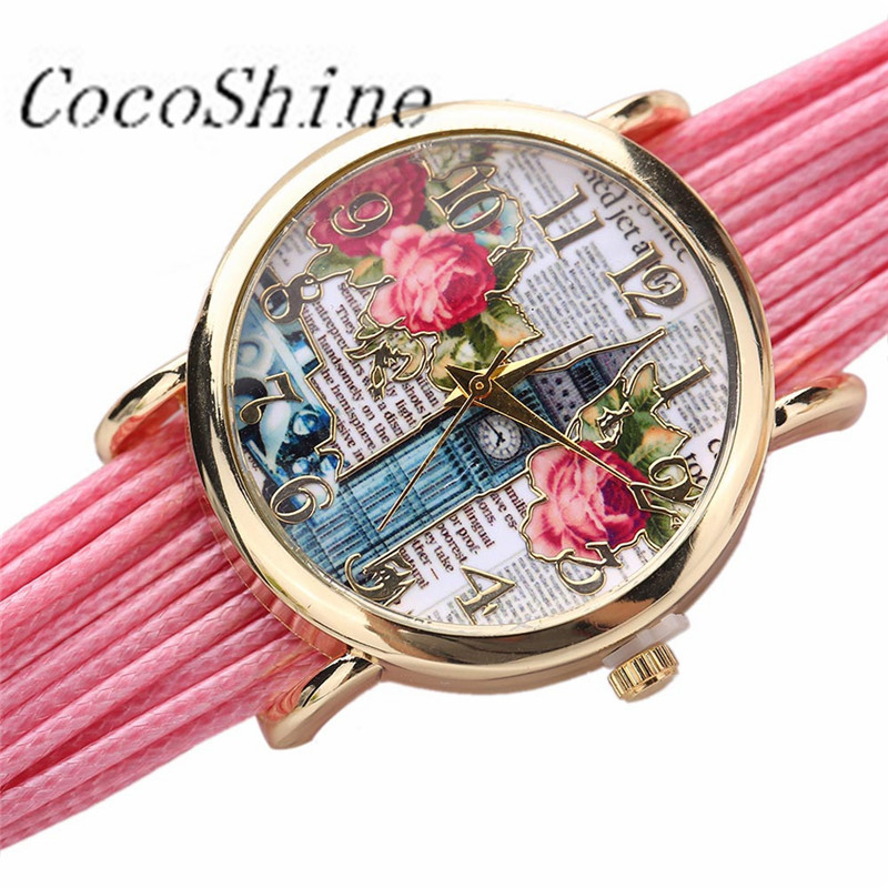 CocoShine A-777 New Fashion Style Women Rose Gold Watch wholesale Free shipping<br><br>Aliexpress