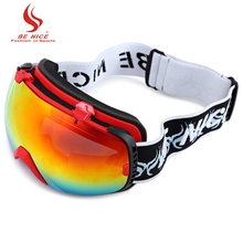 New Design Unisex Spherical Anti-fog Dual Lens Snowboard Skiing Goggle Eyewear Sports Glasses Skiing Eyewear Non-slip Waterproof