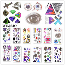 10.5x6cm waterproof temporary tattoo Diamond stars Eyes tatoo henna fake flash tattoo stickers Taty tatto tattoos tatuajes