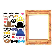 New 24Pcs/set Photo Booth Props Party Wedding Decorations Cat Glass Mask Mustache & Frame Fun Favor Photobooth Birthday Party