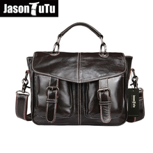 Genuine Leather Bag Fashion Business Briefcase Laptop Bag Men Travel Bags Zipper Totes Men Messenger Bags Leather Handbags HN36