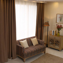 Bedroom Curtains Solid Color Japan Window Shades Imitation Linen Blackout Fabric Modern Living Room Curtains Single Panels
