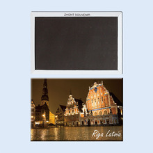 Riga Latvia  beautiful nights 22518 Souvenirs of  Worldwide Tourist; gift for friends Home Furnishing decoration.Magnet.