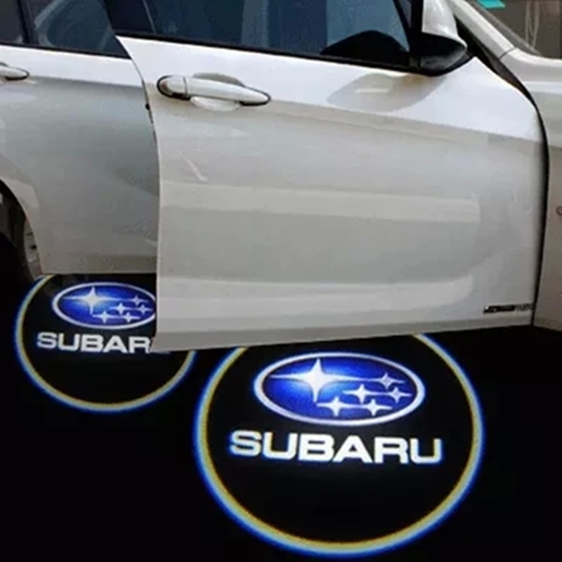 Car door light ghost shadow welcome light logo projector emblem For SUBARU Forester Outback Legacy XV Imprzea Tribeca<br><br>Aliexpress
