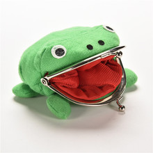 1PC Frog Wallet Anime Cartoon Wallet Coin Purse Manga Flannel Wallet Cute purse Naruto Coin holder(China)