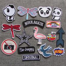 1pcs sell fashion style hot melt adhesive applique embroidery patch DIY clothing accessory patches stripes C5166-C5184(China)