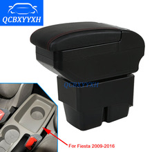 New Update 8th For Ford Fiesta 2009-2016 Armrest Box Hand Switch Gear Center Storage Box 3 Colors Products Accessory Car-styling
