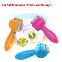 Freeshipping New Colorful Multi-function USB Electric Head massager, body massager,Electric comb