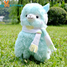 BOOKFONG 35cm Alpaca Peluches Toys With Earmuff Japan Alpacasso Plush Toy Jumbo Plush Animals Toys Kids Alpaca Christmas Gifts(China)