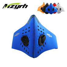 MZYRH Women Men Mountian Bicycle Bike Cycling Running Masks Outdoor Sports Anti-dust Half Activated Carbon Protect Face Mask