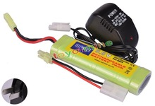 9.6V NiMH 2800mAh Battery Pack + Charger for RC Car Airsoft(China)