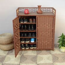 Fashion Hot Sell Straw Braid 40s-the Rattan Simple Shoe  Storage Cabinet  Free Shipping